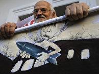 Акция протеста в Минске против российского вмешательства в Сирии