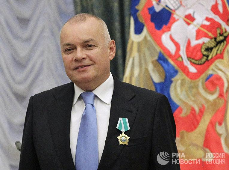Дмитрий Киселев во время вручения ордена Дружбы в Кремле