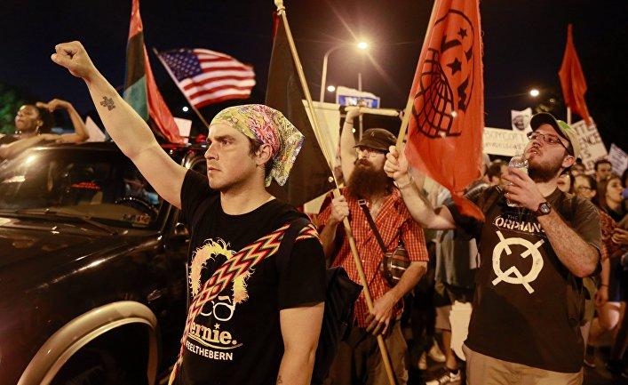 Акции протеста в Филадельфии