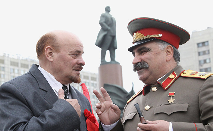 Первомайское шествеие коммунистов в Москве