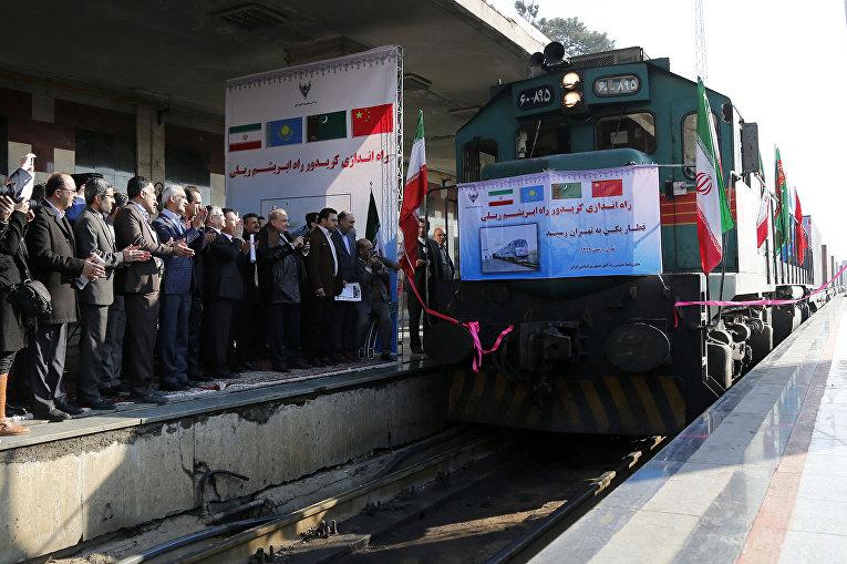 Железнодорожный состав с товарами из Китая через Казахстан и Турменистан впервые прибыл в Иран