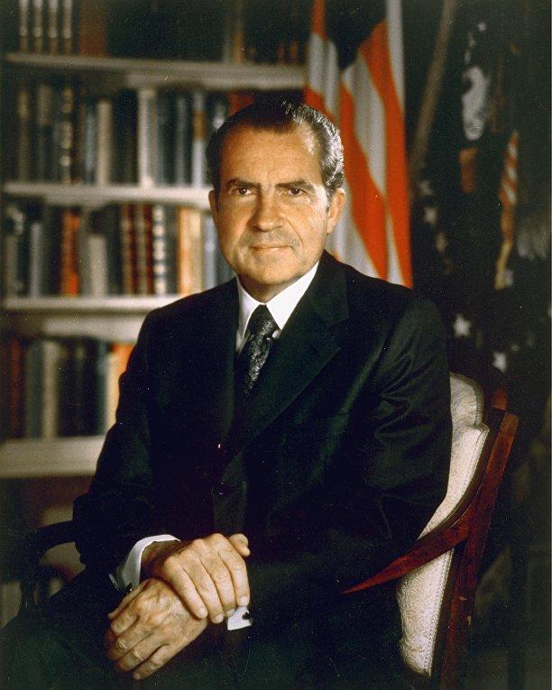 37-й президент Соединённых Штатов Америки Ричард Никсон