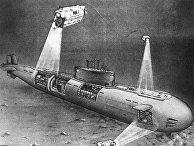 """Репродукция рисунка """"Норвежское море. Атомная лодка """"Комсомолец"""""""