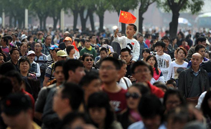 Посетители Запретного города в Пекине