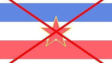 Флаг бывшей Югославии