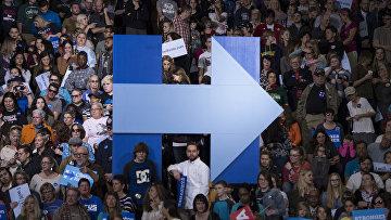 Митинг в поддержку кандидата в президенты США Хиллари Клинтон