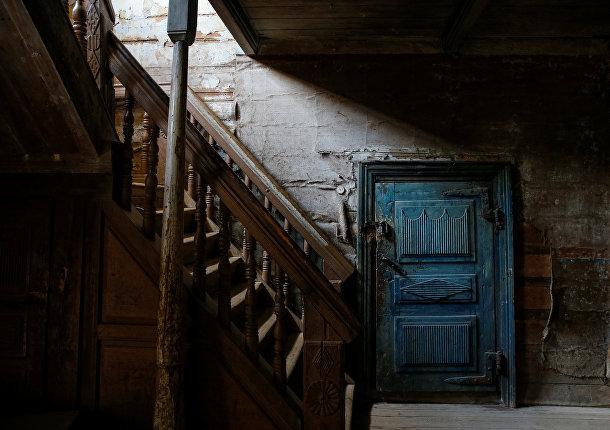 Интерьер дома в деревне Черевково, Архангельская область