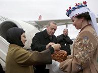 Президент Турции Реджеп Тайип Эрдоган в национальном аэропорту Минска
