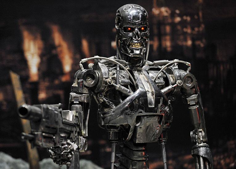 Полномасштабный макет робота Терминатора «Т-800»