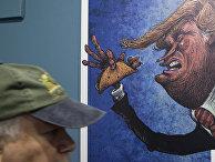 Карикатура на избранного президента США Дональда Трампа в Мексике