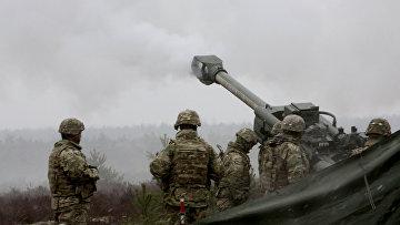 Военные учения НАТО Operation Summer Shield на полигоне Адажи в Латвии
