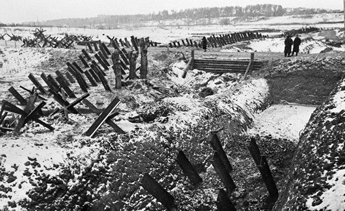 Противотанковые укрепления под Москвой