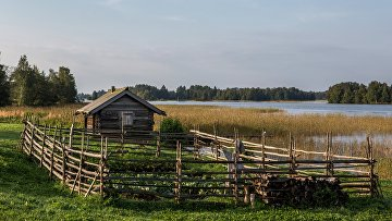 Баня из деревни Мижостров в Карелии