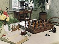 Уголок столовой в доме-музее Ленина