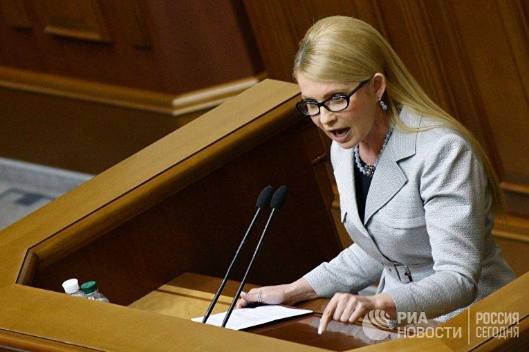 Лидер всеукраинского объединения «Батькивщина» Юлия Тимошенко
