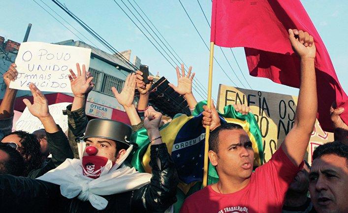 Протесты в Сан-Паулу