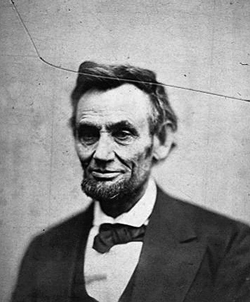 Портрет бывшего президента США Авраама Линкольна