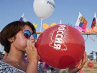 Посетители фестиваля «Золотая балка» в Крыму