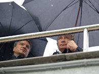 Президент России Владимир Путин и председатель правления Сбербанка России Герман Греф