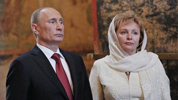 Президент России Владимир Путин с супругой Людмилой