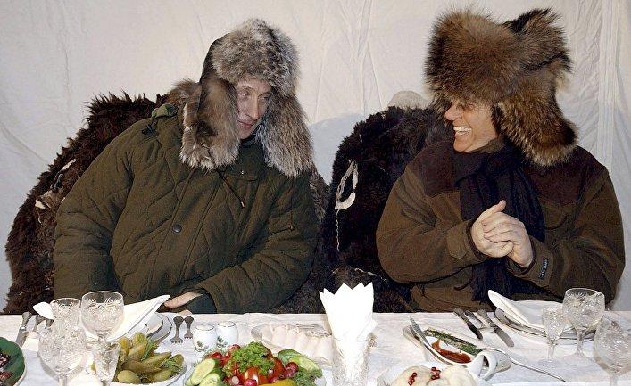 b43f974bd672 Сильвио Берлускони и Владимир Путин на неформальной встрече в Завидово