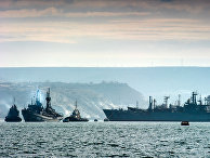 Корабли Черноморского флота России в бухте Севастополя