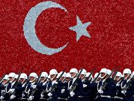 Курсанты ВВС Турции во время церемонии вручения дипломов в Стамбуле
