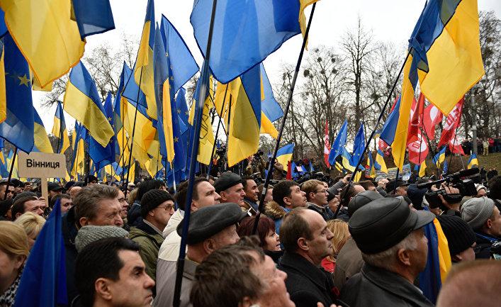 Акция протеста «Открытая Рада» в Киеве