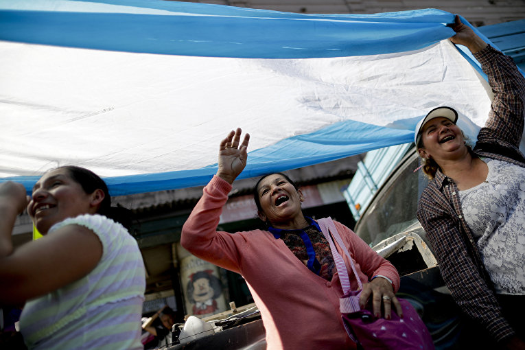 Акция протеста в Аргентине