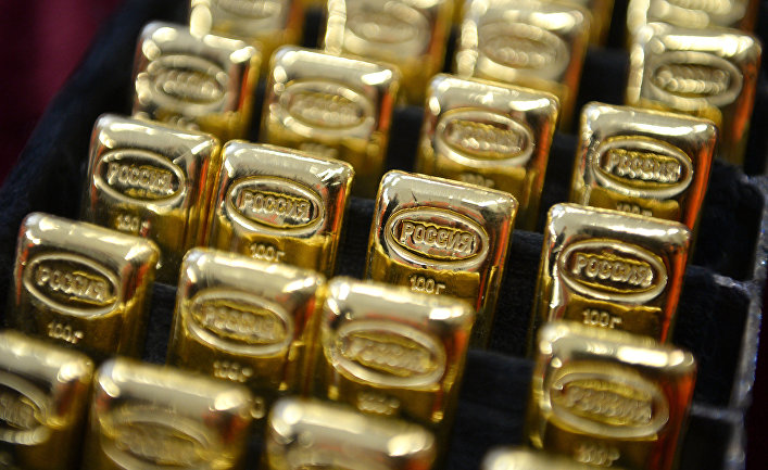 Золотые слитки, изготовленные на Екатеринбургском заводе