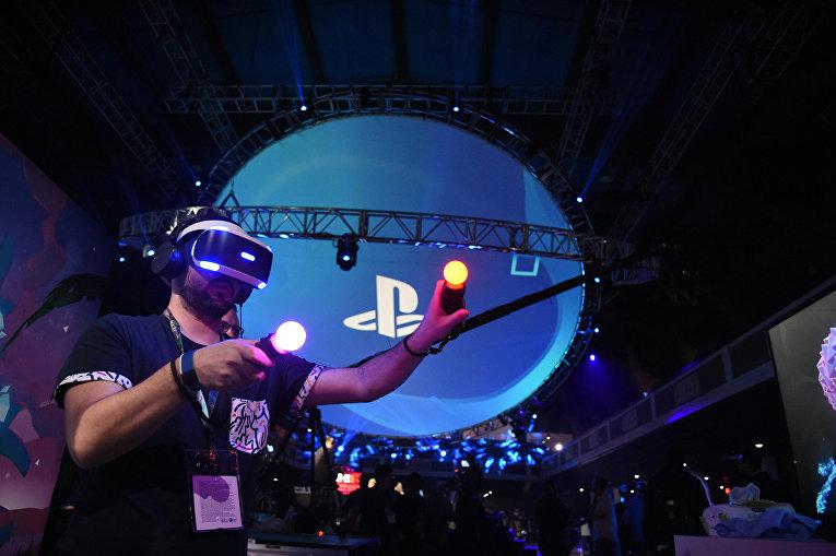 Шлем виртуальной реальности Sony VR