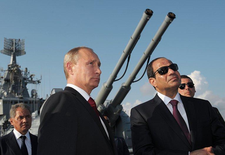 Президент России Владимир Путин и президент Египта Абдель Фаттах Аль-Сиси
