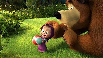 Кадр из мультфильма «Маша и Медведь»