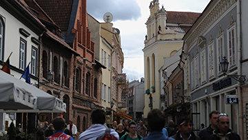 На улице Пилес в Вильнюсе