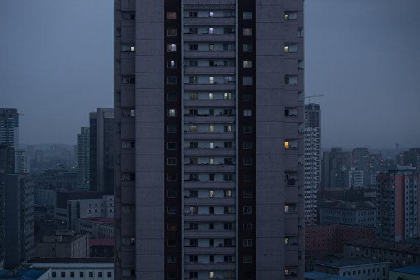 Район многоквартирных домов в Пхеньяне