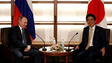 Переговоры премьер-министра Японии Синдзо Абэ и президента России Владимира Путина в Нагато