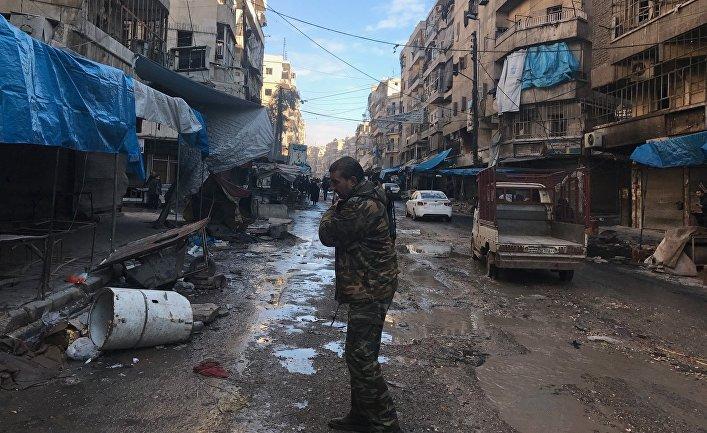 В освобожденных районах восточного Алеппо