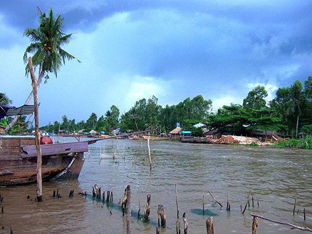 Меконг, самая большая река на Индокитайском полуострове