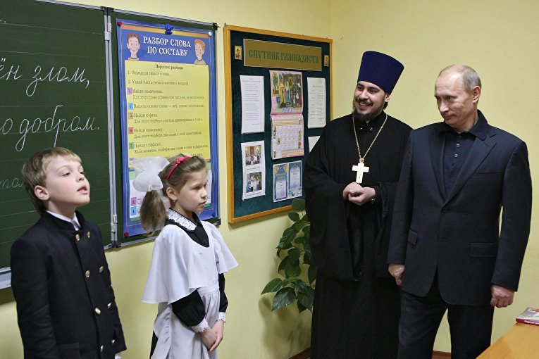 Премьер-министр РФ В.Путин посетит Православную классическую гимназию