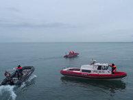 Поисковые работы в акватории Черного моря в районе крушения самолета ТУ-154