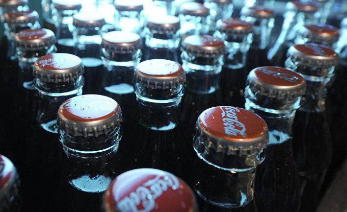 Работа завода Coca-Cola в Москве