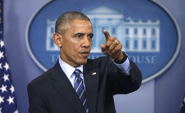 Президент Барак Обама во время пресс-конференции в Белом доме