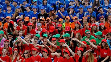 Участники молодежного военно-патриотического движения «Юнармия»