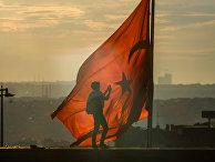 Флаг Турции в Стамбуле