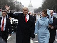 резидент США Дональд Трамп и первая леди Мелания Трамп