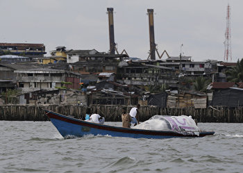 Портовый город Буэнавентура в Колумбии