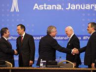 Участники переговоров в Астане