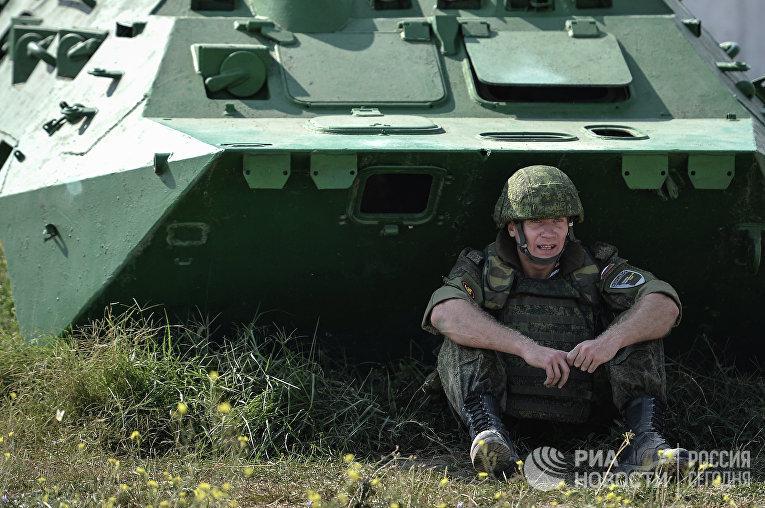 Участник ежегодного армейского проекта «Вежливые люди. Бархатный сезон»
