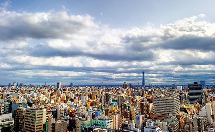 Вид Токио, Япония