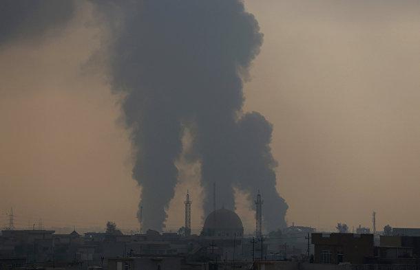Дым сражения в районе Аль-Бакр